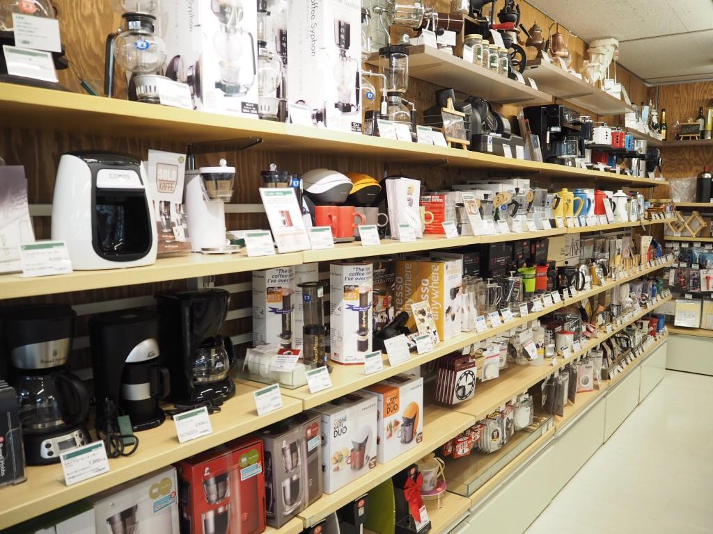 こちらは東急ハンズのコーヒーグッズ売り場