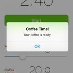 iPhoneのコーヒータイマーアプリ
